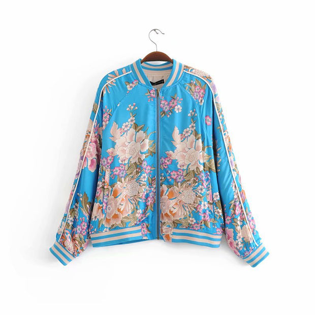 2018 spring and summer new European station cotton positioning printing jacket ladies printing jacket YUP8269