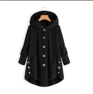Women's Double-faced Flush Hoodie Coat