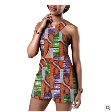 African Printed Women's Cotton Jumpsuit