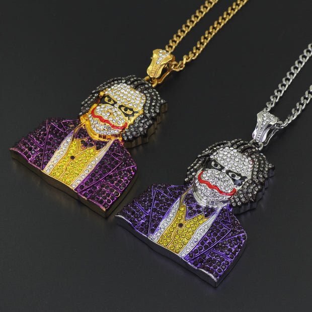 New European and American hip hop necklace cosplay clown big pendant