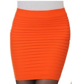 High Waist Solid Color Sexy Skirts
