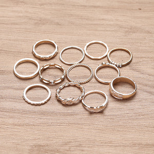 Vintage Diamond 12 Piece Set Rings