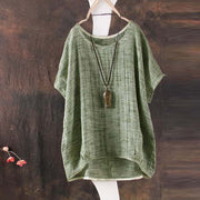 Casual loose linen Blouse Tops