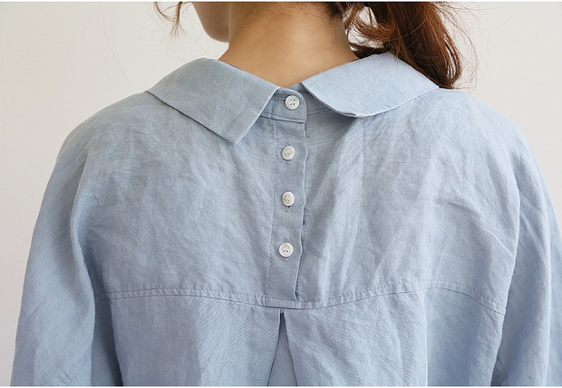Cotton and linen dress shirt