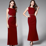 Ladies temperament skirt women's summer 2018 new high waist step skirt long skirt slim long dress