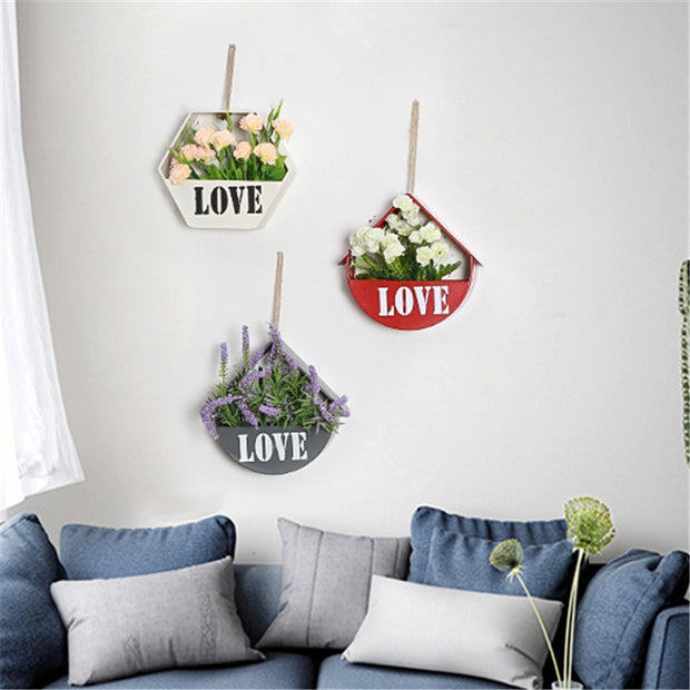 Wall Mounted Shelf Flower Living Room Bedroom Decoration 1pc