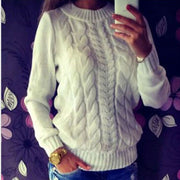 Twist pullover sweater