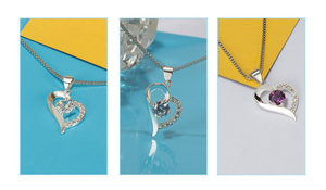 Sweet Heart Shaped Pendant Simple Necklace