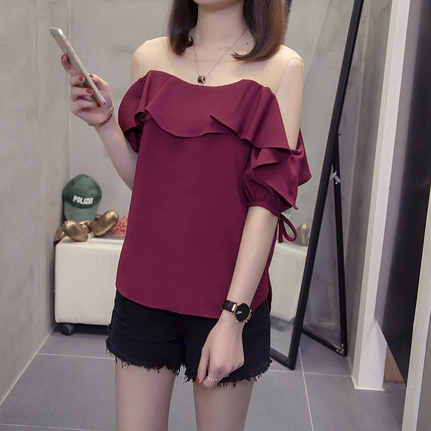 Stitched strapless shirt is a versatile versatile top