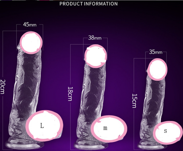 Female simulation penis suction cup Roman Emperor Color crystal masturbation transparent dildo adult sex products