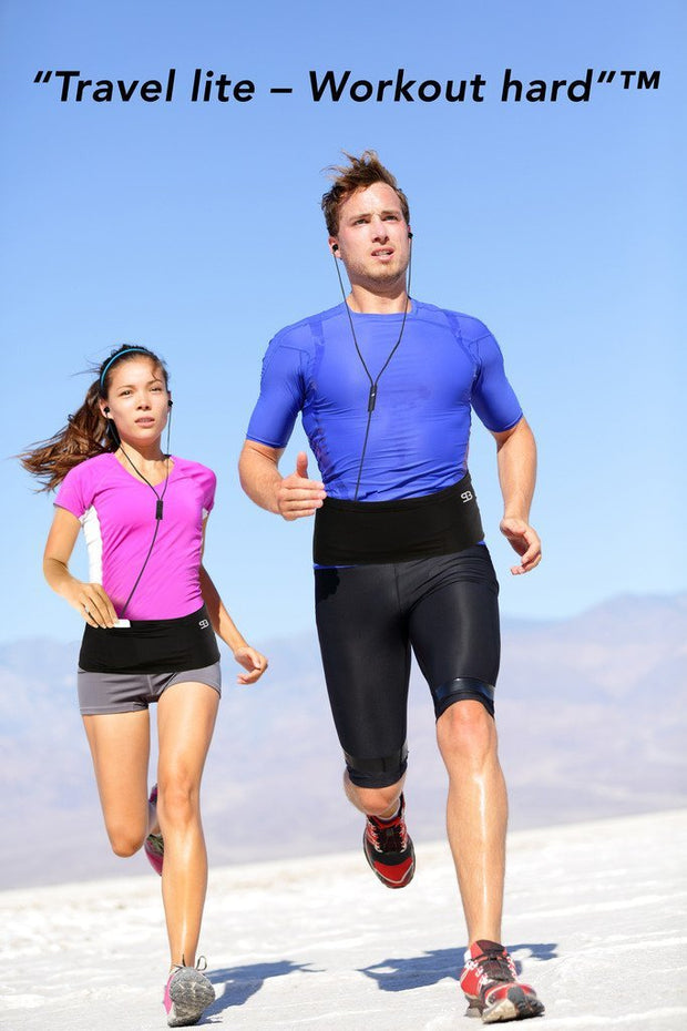 Fitness running belt and cycling belt