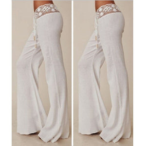 EBay express EBAY new style European and American explosive white lace trim, casual pants, autumn trousers.