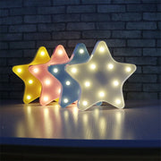 Decorative Light Lovely Star Shape Night Lamp Children Gift