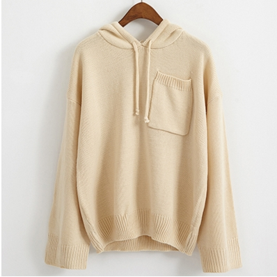 Hoodie Knit Sweater Women