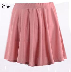 High Waist Short Pleated Skirt