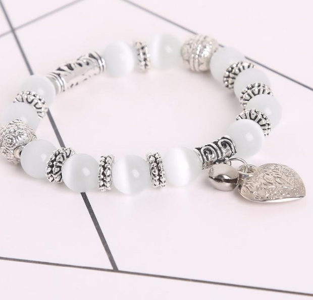 Yoga-Supreme™ 10 mm White Cat Eye Beads