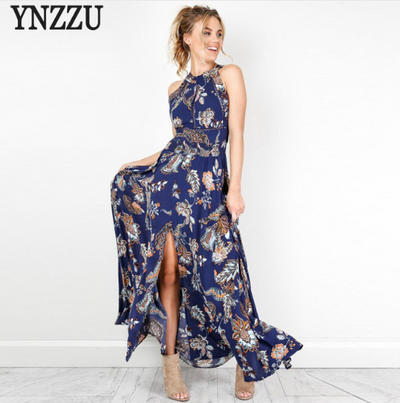 Spring and summer womentheir long dresses