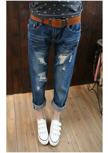 Women Casual Ripped Haren Denim Jeans