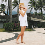 USA SIZE Seaside beach holiday sexy halter vest dress V-neck tie strap dress