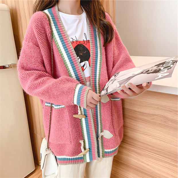Knit Woolen Cardigan Sweater
