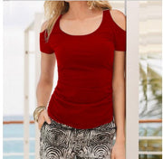 Solid Short sleeved Round neck T-shirts