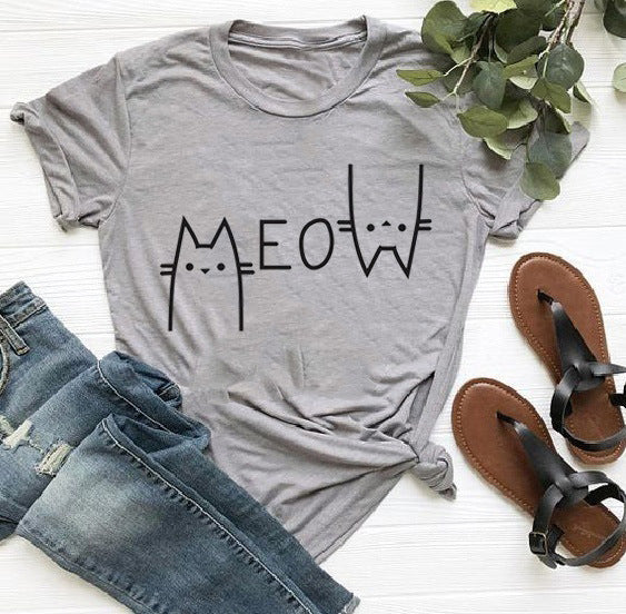 Fresh Summer Solid Letters Print T-shirt