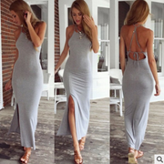 USA SIZE Nightclub women's sexy backless bandage explosion models beach dress