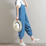 2018 Rompers Womens Jumpsuit Plus Size Overalls Casual Loose Sleeveless Backless Playsuits Oversize Bottoms Pants Trouser