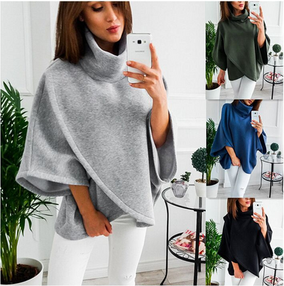 Amazon AliExpress / ebay Europe and the United States winter new warm jacket high collar sweater top