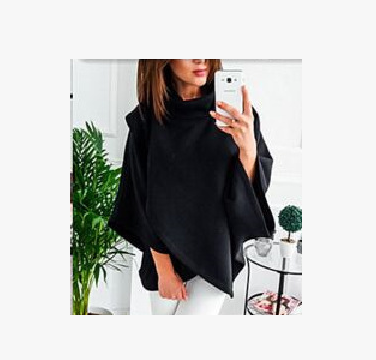 Warm High Stand Collar Sweater Top