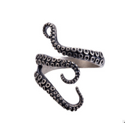 Stainless Steel Adjustable Octopus Rings