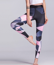 Sport Trousers Sport Pants Women Elastic Printed Yoga Pants Yoga Leggings Running Tights Sport Leggings Gym Clothes Fitness Yoga