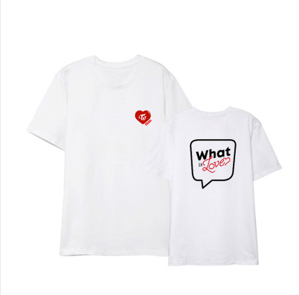 Letter Print Couple Tee