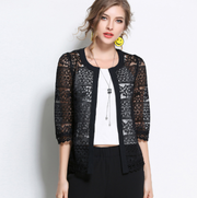 Women Floral Lace Hollow Stitching Shawl