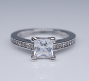 Square Diamond Princess Rings