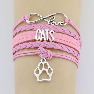 Hand-knitted Cats Animal Paw Charm Bracelet Braided Bracelet