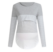 Striped stitching long sleeve Sweatshirt
