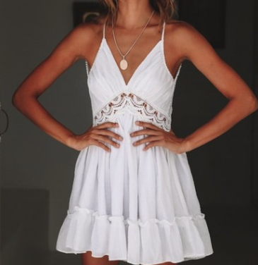 Sexy Backless Lace Slip Cami Dress