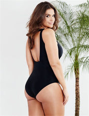 Large size one-piece swimsuit