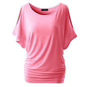 Large size solid color round neck T-shirt