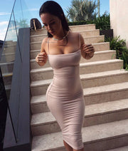 Nightclub milk silk plus velvet bandage dress sexy strap dress