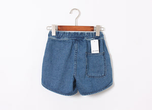Elastic Loose Wide Leg Shorts Jeans