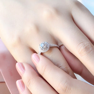 Round multi-layer full diamond ring Fashion temperament wedding ring Female