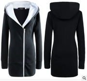Women's cotton coat in the long section of the cold jacket hooded thick warm coat jacket