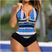 Bohemian Retro Print One-piece Bikini