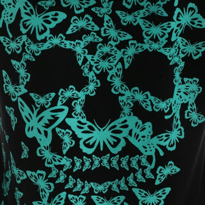 Butterflies Skull Printed Hoodies