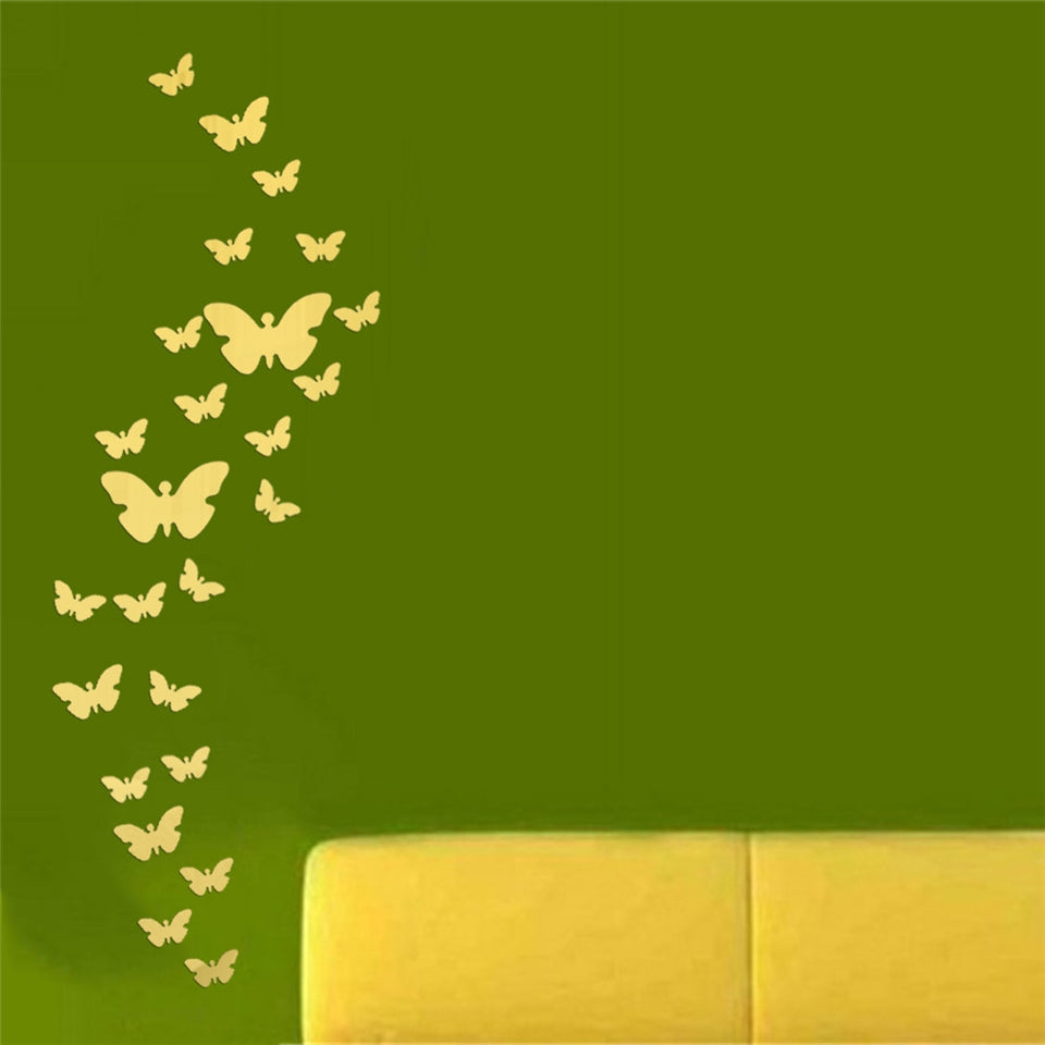 447706 Butterfly Acrylic Mirror Stereoscopic Wall Sticker