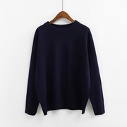 Simple Designed Loose Sweater Pullover