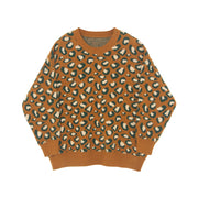 Leisure Leopard Loose Knit Sweater