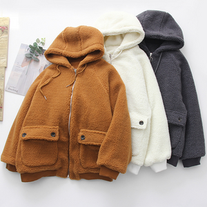 Loose Hooded Warm Lamb Fur Jacket